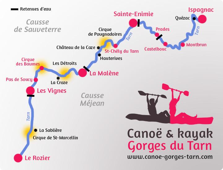 Carte des Gorges du Tarn